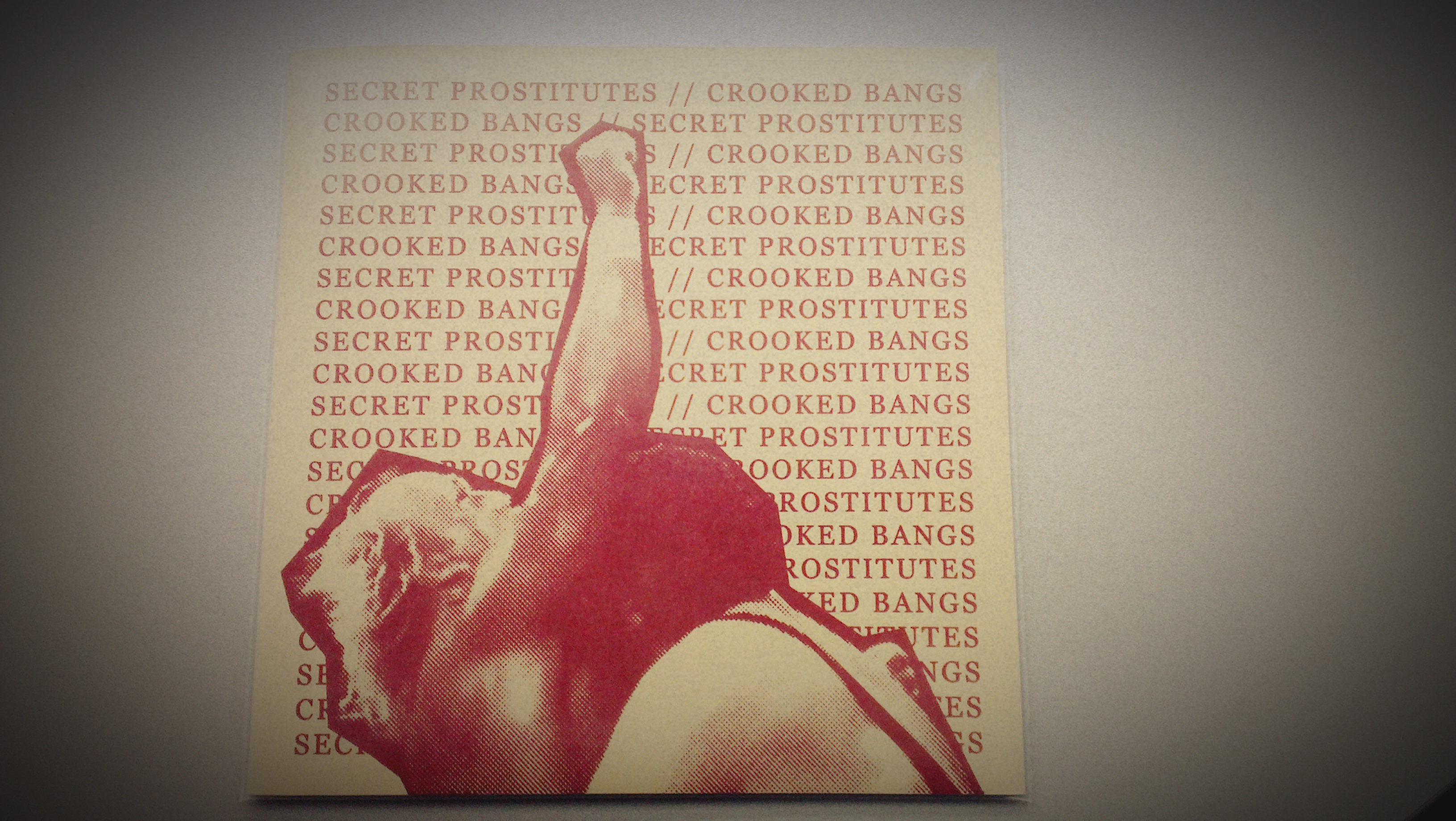 Secret Prostitutes / Crooked Bangs - Split EP Red Version